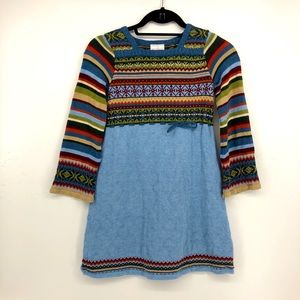 Hanna Andersson fair-isle knit Sweater Dress